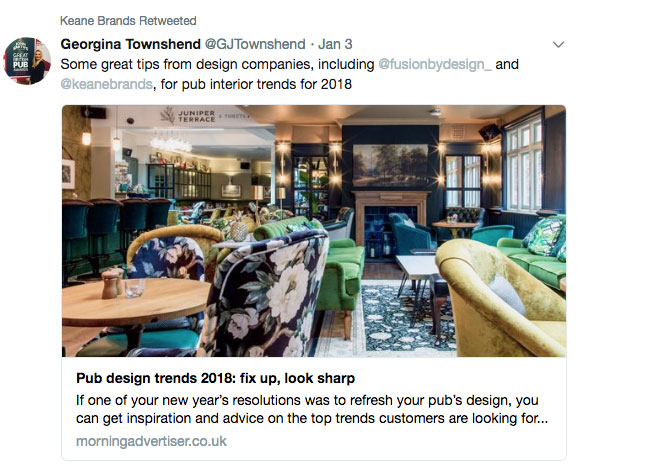 Pub design trends 2018:  Fix up, Look sharp – By Georgina Townshend