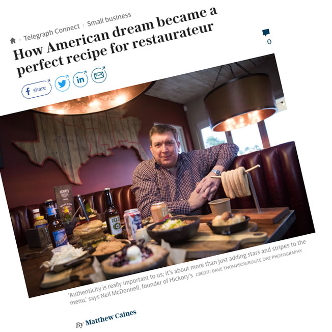 How American dream became a perfect recipe for restaurateur – by Matthew Caines