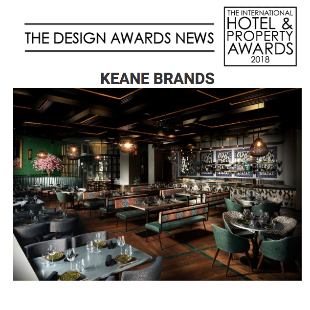 Keanebrands shortlisted with AJI for Restaurant Global Award